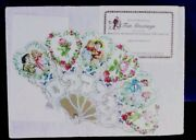 Victorian Fan Greetings Card Vtg Retro Look A Gift Of Love Sealed W Envelope