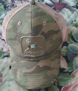 John Deere Pink And Camo Womanandrsquos Adjustable One Size Fits All Ball Cap Hat