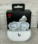 New Beats Studio Buds Andndash Noise Cancelling Bluetooth Earbuds W/ Charge Case White