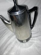 Vintage Presto Stainless Steel 2-12 Cup Coffee Pot Percolator No Cable