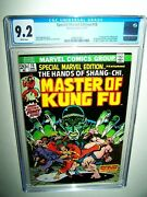 Special Marvel Edition 15 Cgc 9.2 1st Shang Chi White Pages Mcu Movie Hot Issue