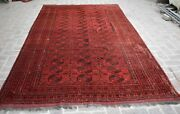 6and0397 X 11and0395 Antique Very Rare Afghan Sulaiman Village Rug North Afghan Old Rug