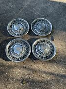 Four 1975 To 1979 Cadillac Seville Fleetwood Wire Spoke Hubcap Wheel Rat Rod