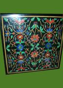 3and039x3and039 Table Marble Inlay Top Pietra Dura Coffee Center Malachite Antique Decor