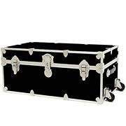 Rhino Trunk And Case Large Armor Trunk With Removable Wheels Summer Camp Colleg...