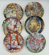Bill Bell Limited Edition Lot Of 6 Major Holidays Cat Collector's Plates