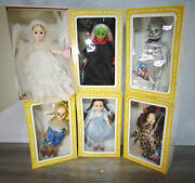 New Lot 6 Effanbee Wizard Of Oz Doll Dorothy Good Witch Lion Tin Man Scarecrow +