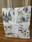 Pottery Barn Forest Gnome Organic Cotton Queen Sheet Set Sold Outnip