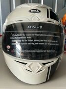 New Bell Rs-1 White Small Helmet With Authentic Bell Helmet Storage Bag