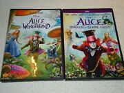 Alice In Wonderland Andalice Through The Looking Glass 2 Dvd Widescreen Set Disney