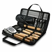 Bbq Tools Set Utensil Grill Accessories Skewers Tongs Spade Brush Glove Outdoor