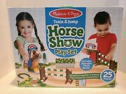 Melissa And Doug Train And Jump Horse Show Play Set - Looks Great Missing 1 Piece