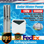 4 Solar Water Pump Farm Ranch Submersible Bore Hole Deep Well Dc 5000l/h Andmppt