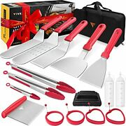 Griddle Accessories Kit Flat Top Grill Set For Blackstone And Camp Chef Red