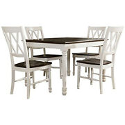 Crosley Furniture Shelby 5-piece White Dining Set