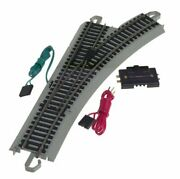 Bachmann Trains - Snap-fit E-z Track Remote Turnout - Right 1/card - Nickel...