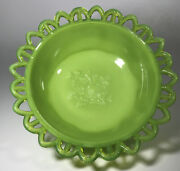 Eapg Antique Challinor Taylor Nile Green Milk Glass Daisy And Tree Of Life Bowl