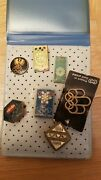 Lot Of 7 Old Vintage Pins Badges Of Olympic Games Munchen Mexico Tokyo - Rare