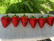 Glass Strawberry Christmas Tree Ornaments Bronners Frankenmuth Michigan
