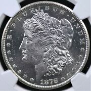 1878 Cc Morgan Dollar Ngc Ms 62 Frosted White Devices Atop Reflective Fields