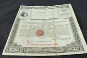 August 1942 Uncashed Wwii United States Series E 25 Savings Bond Q70837266e