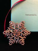 And Co. Large Sterling Silver 925 Snowflake Christmas Ornament W/ Box