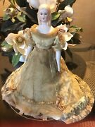 """Wonderful 12"""" Old 1952 Parian Doll. Possible Antique Dress For French Fashion"""