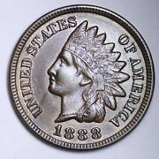 1888 Indian Head Cent Penny Choice Unc Uncirculated Ms Free Shipping E126 Tcl