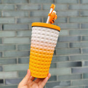 Starbucks Tumbler 2021 Fall Happy Cute Fox Gradient Stainless Steel Straw Cup