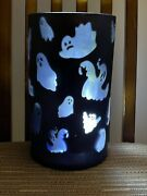 Yankee Candle Halloween Ghouli Ghost Large Jar Holder Black Flickering New Tags