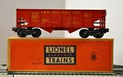 Lionel 6456-75 Shiny Red Lehigh Valley Hopper Car With Yellow Lettering Rare