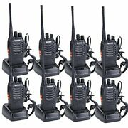 Walkie Talkies 8 Pack Bf-888s 16 Channel Rechargeable Walkie Talkies For Adults