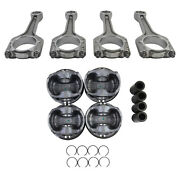 Pistons And Connecting Rods 23mm Set For 2.0 Tfsi Tsi Audi Volkswagen A4 Jetta Gti