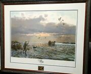 John Cowan Coming Home Gold Medallion Remarque Edition 14 Of 25 1985 New Frame