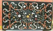 5and039x2.5and039 Marble Table Top Inlay Pietra Dura Floral Art Handmade Inlay Home Decor