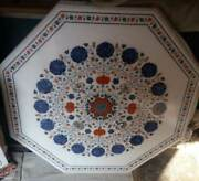 42and039and039 Marble Handmade Center Coffee Table Top Inlay Pietra Dura Work Juy