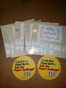 Seven 1970s Have A Pepsi Day Window Store Decals. New Old Stock - Nice Variety