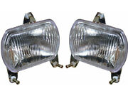Headlamp Set With 12v Bulbs Suitable For Ford New Holland Tractor Td60 Td70 Td80