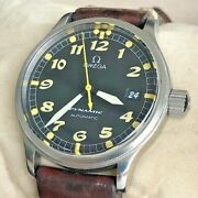 Omega Dynamic 166.0310 Stainles Steel Just Serviced Warranty Certif + Gift Box