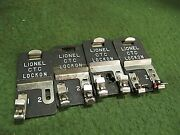 Lionel Ctc Lockons Lot Of 4 O/o27 Track Contactors For O Gauge Track Accessory