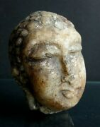 Ancienne Tete Bouddha Marbre Chine Antique Chinese Boudda Head Marble Bouddhism