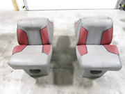 1986 Bayliner 21and039 Bow Rider Interior Back To Back Folding Seats Gray Red