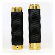 1 Fly By Wire Hand Grips For Harley Road Glide Street Glide - Brass And Rubber