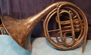 Antique Silverplate F.a. Reynolds U.s. Wwii French Horn