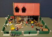Playmobil Vintage 3556 Farm Barn And Animals Chickens - 100 Complete - See Note