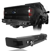 Rear Step Bumper Bar W/ License Plate Led Light And D-ring For 2006-2014 F-150