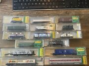 Vintage Lot Of 15 N Scale Freight Train Cars Minitrix