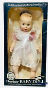 Vintage Gerber Baby Doll 17 Red White Gingham 50th Moving Eyes 1979