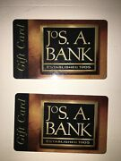 Jos A. Bank Gift Card 400   2 200 Each Free Priority Shipping Usps