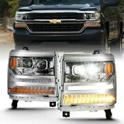 111421 Anzo Headlight Lamp Driver And Passenger Side New For Chevy Lh Rh Chevrolet